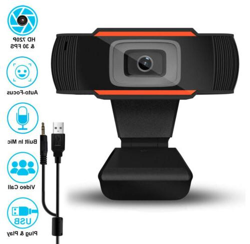 720p hd webcam with microphone for desktop