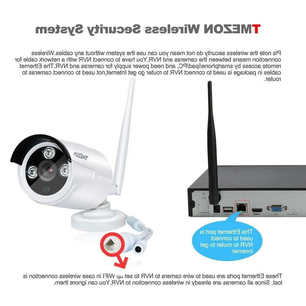 TMEZON 960P IP Camera System 8CH 1080p WIFI NVR Vision
