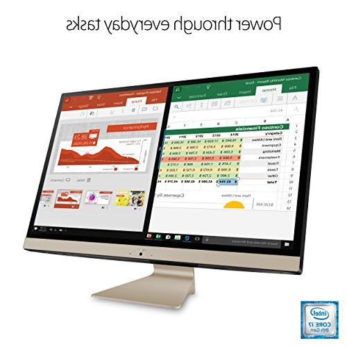 """ASUS Vivo AiO 27"""" All-in-One Touchscreen Intel Core i5-8250U, RAM, 1TB HDD, HD Webcam, Keyboard Mouse"""