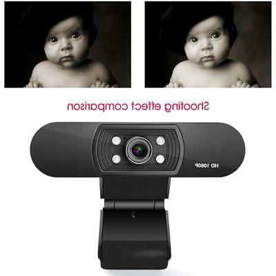 Built-in Microphone ABS Peripherals Video Conference H-D Webcam 1080P