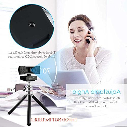 Allinko 550 Full HD, USB Camera with Microphone 7 XP Mac OS X, Skype Laptop MacBook Pro, and Webcams