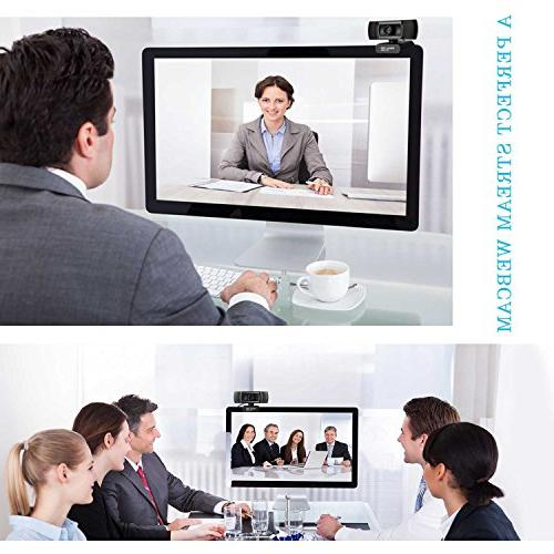 Allinko Webcam Full USB Web Camera with 7 Mac OS X, Laptop Pro, Plug and Play Webcams
