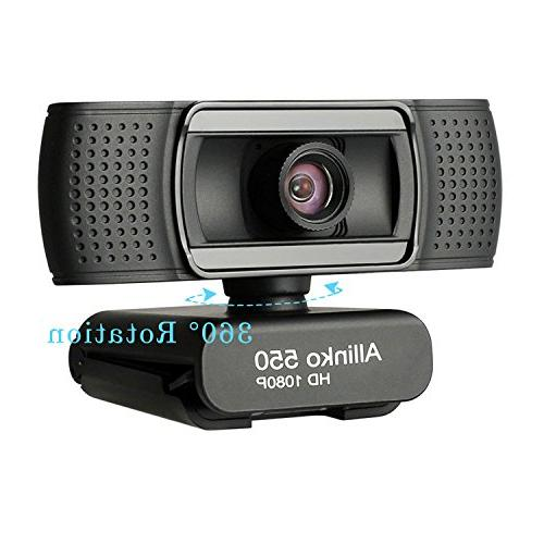 Allinko 550 1080P Full Camera with with 10 7 X, Skype for Laptop Pro, Plug Webcams