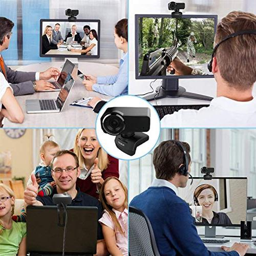 AUSDOM Webcam, Streaming Webcam, Twitch YouTube Facebook, Compatible for MAC 10/8/7