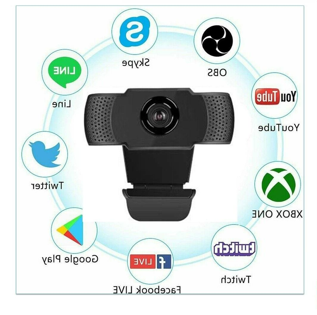 BEST1080P Full HD USB Webcam Web Camera with Microphone for