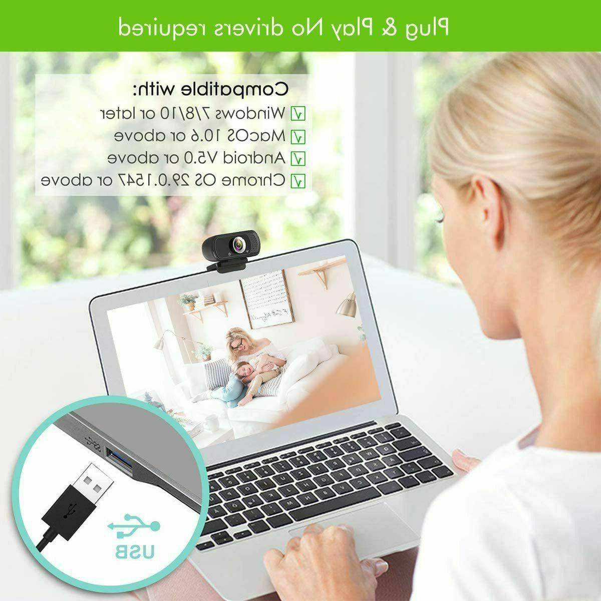 BEST 1080P Full USB Webcam Web Camera with Microphone