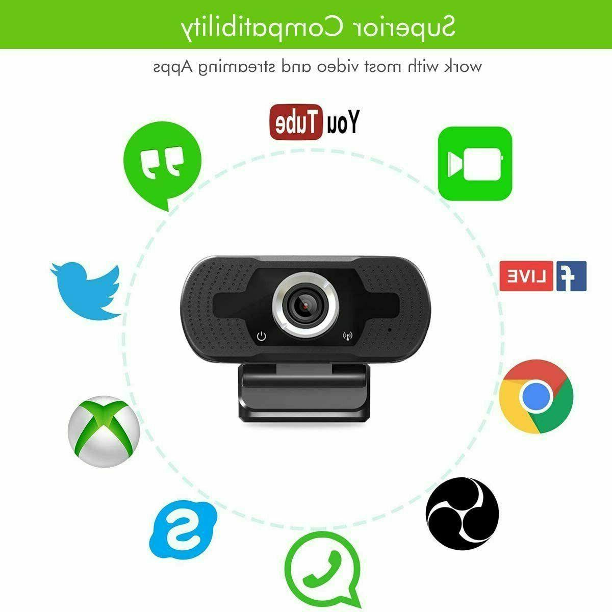 BEST Full HD USB Webcam Web with Microphone