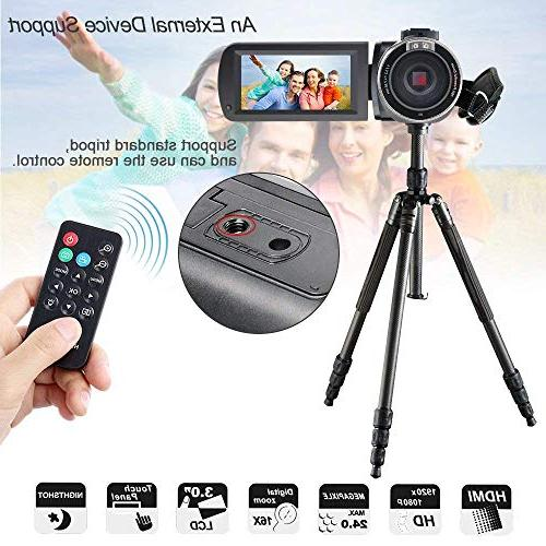 Camcorder,Besteker IR Vision HD Digital Camera with External Wide Angle