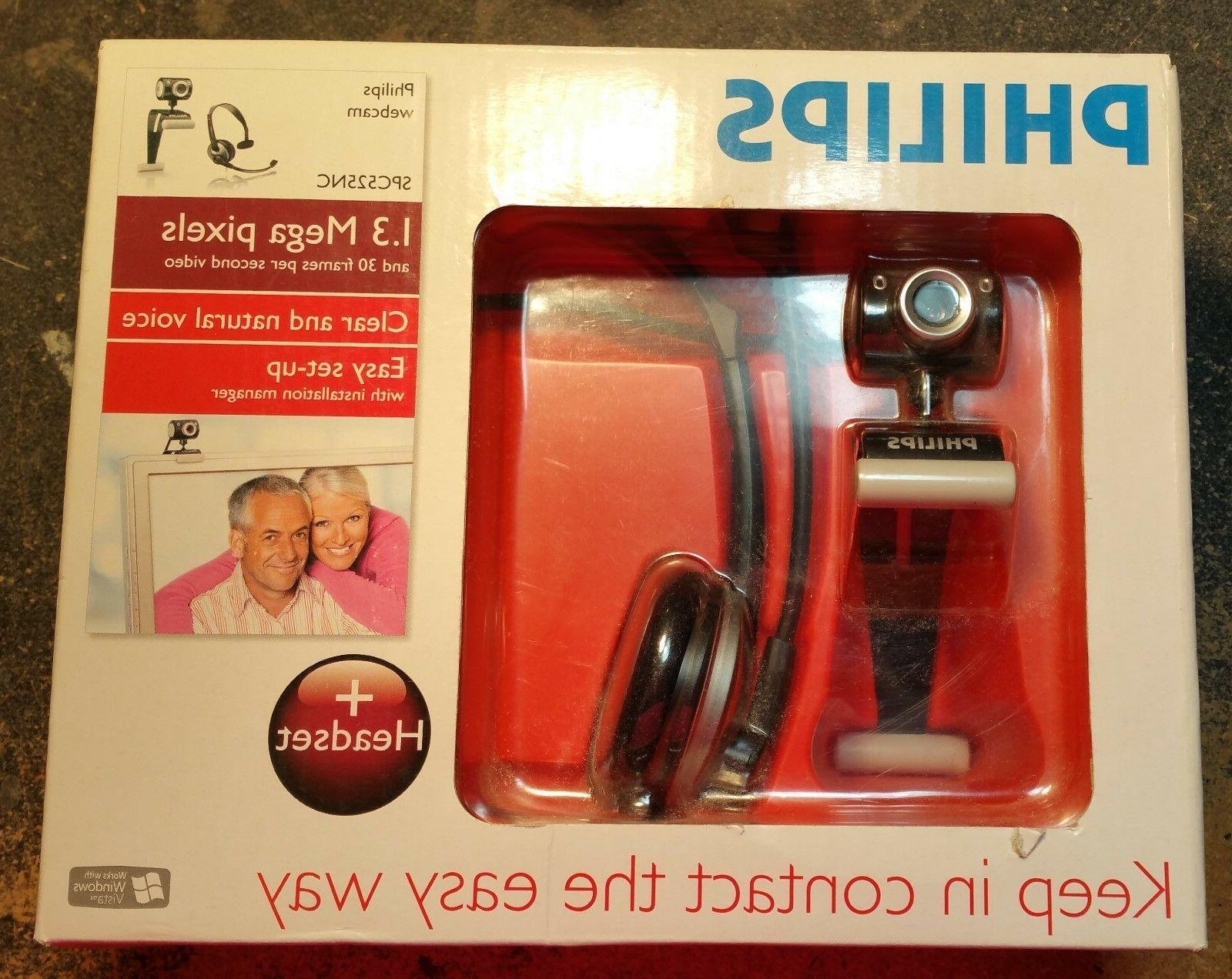COMPUTER PHILLIPS DIGITAL CAMERA WITH MICROPHONE HEADSET  -
