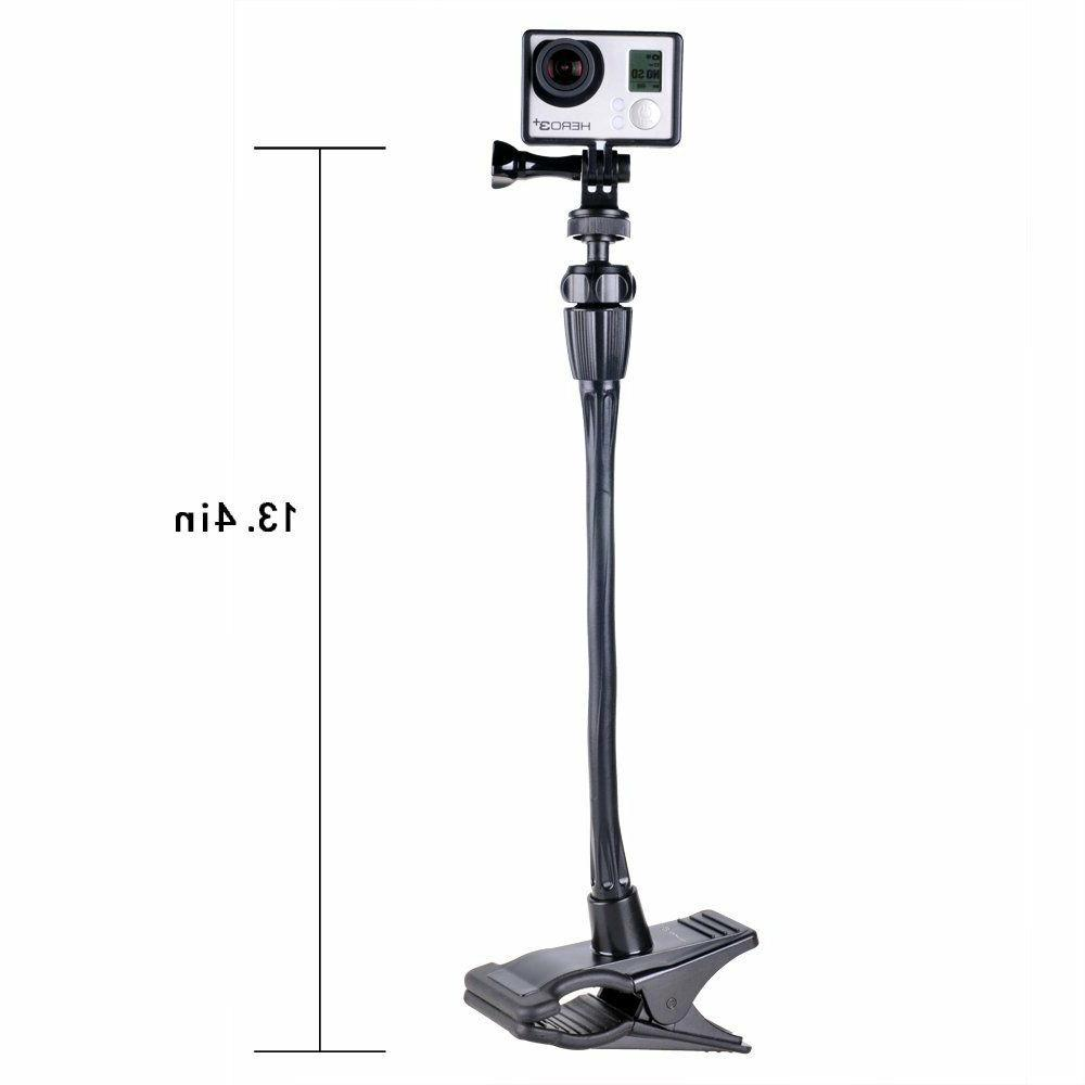 Smatree Flexible Mount GoPro Fusion,7,6,5,4,3+/Webcam