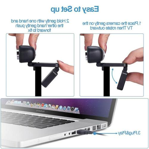Full HD Webcam & Laptop Web with Microphone/FHD