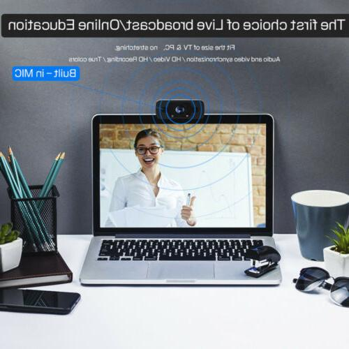 Full 1080P HD Webcam for PC Desktop & Web with Microphone/FHD