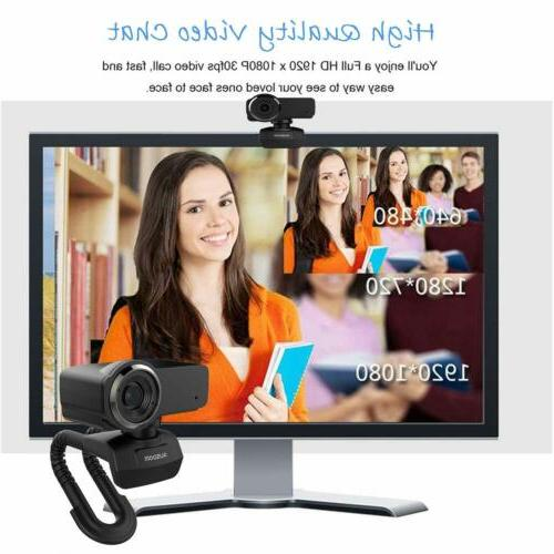 Ausdom Full HD Webcam, Streaming Camera with