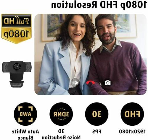 HD 1080P Webcam with PC Computer