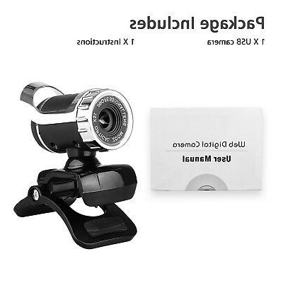 HD USB 2.0 Webcam with MIC Clip-on PC