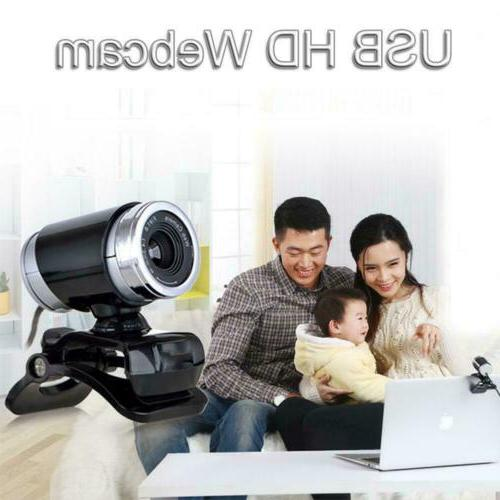 HD Webcam Camera MIC Clip-on PC Computer Laptops