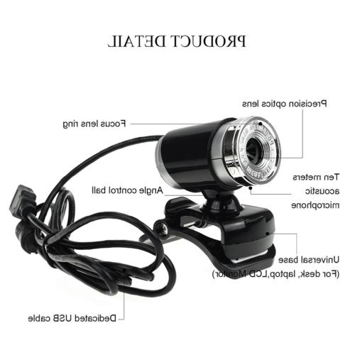 HD 50MP USB Webcam with Clip-on Laptops