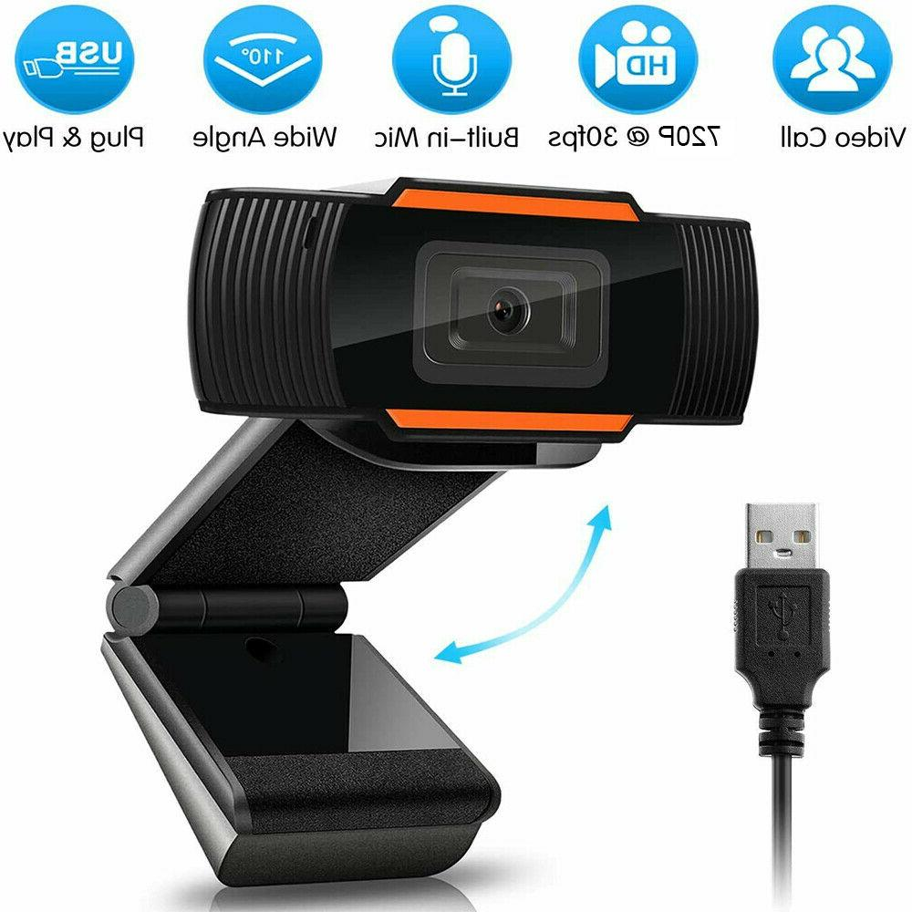 720P HD Webcam With Microphone Auto Focusing Web Camera For