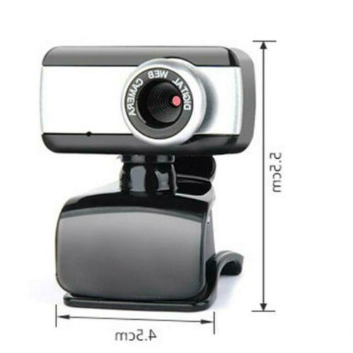 HD Camera Webcam Clip With Microphone USB PC Laptop Cam