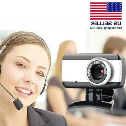 HD Camera With Microphone USB PC Video Cam US