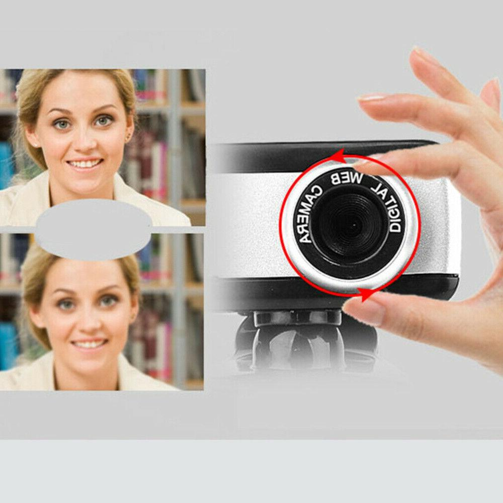 HD Webcam Clip With Microphone For PC Video Cam US