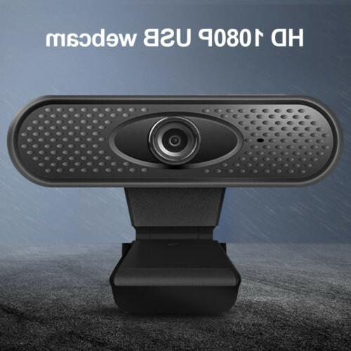 HD 1080P USB Webcam With Microphone Camera For PC Laptop Des