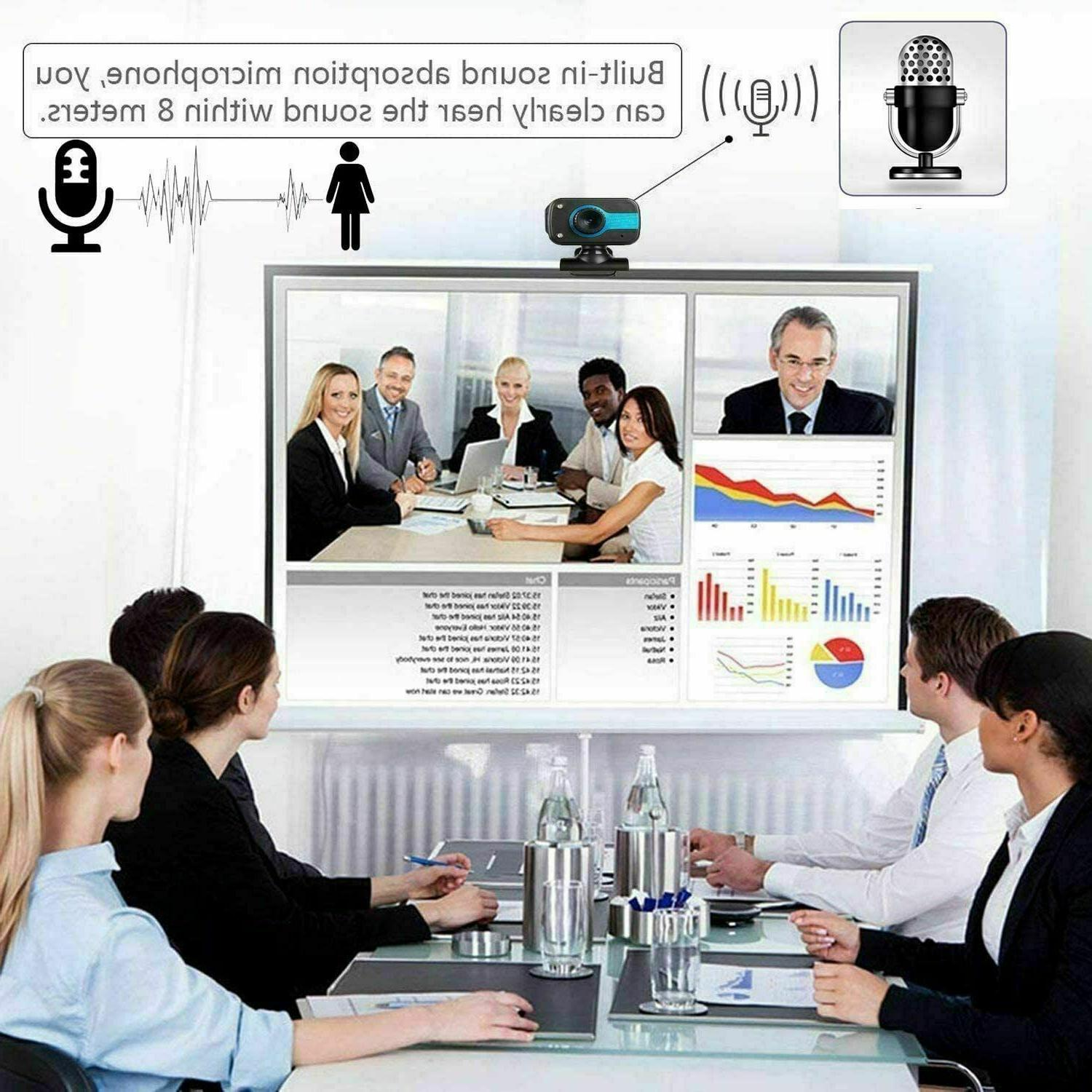 HD USB Computer Web Laptop Desktop Cam W/ Microphone