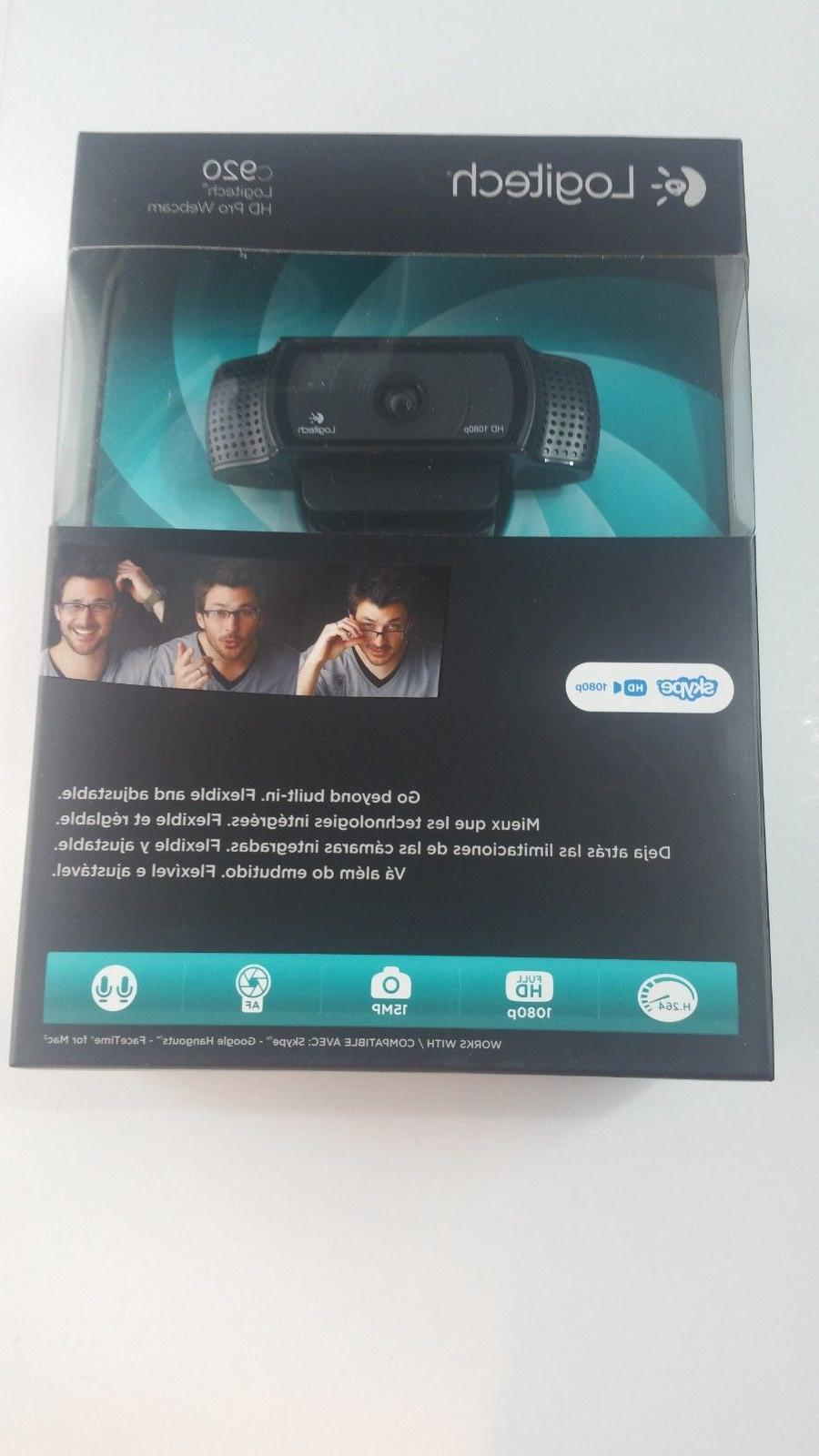 new hd pro webcam c920 widescreen video