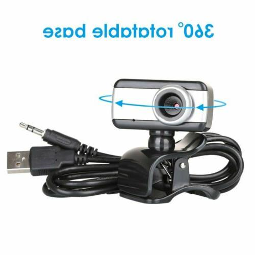 Rotatable USB2.0 Camera Microphone For PC Computer