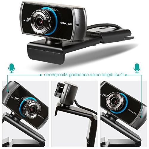 HD Wide Angle Video Streaming 3.0MP Camera Cancelling MIC. PC Mac Laptop