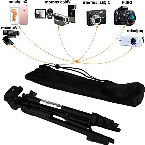 """Professional Camera Mount Holder Stand Logitech Webcam with Cell Clip Remote Shutter -42""""/Black"""
