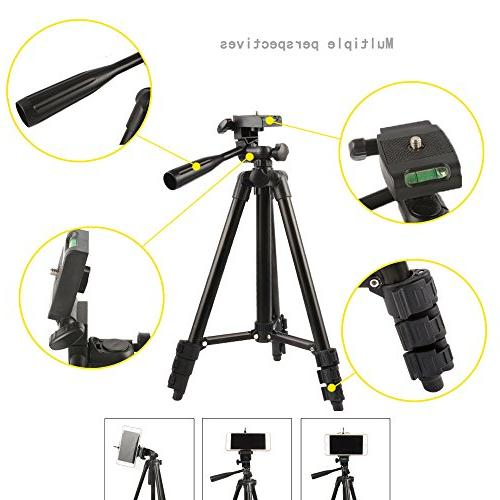 """Professional Camera Holder for Webcam C920 with Phone Holder Clip and -42""""/Black"""