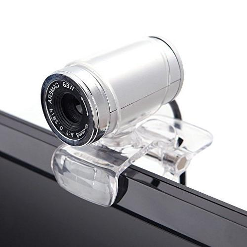 CycleMore USB 2.0 Megapixel Web Cam MIC Clip-on 360 Degree Skype Computer PC Laptop Transparent