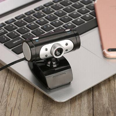 USB 2.0 Webcam Camera With MIC For Computer Laptops 30FPS