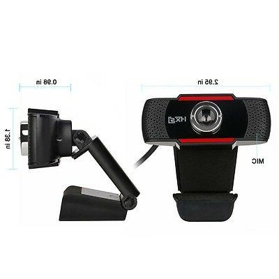 HD 2.0 Webcam Camera with MIC Clip-on PC Laptop
