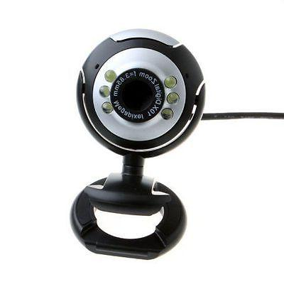 USB 50.0 M LED Webcam Web Cam With Mic for PC