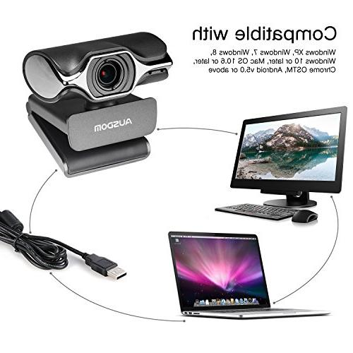AUSDOM USB AW620 High Widescreen USB and Play HD Camera with Cancelling Streaming