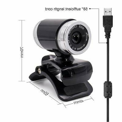Webcam Focus Built-in Plug and Play Silver New