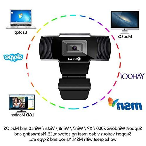 HD Webcam Camera for Laptops Desktop,Sea Wit 30fps,Video Calling and Recording for PC External Wired Camera Skype Tube