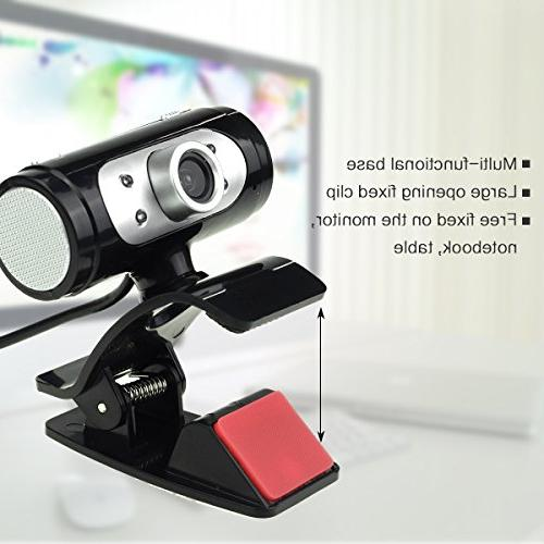 USB HD Video Web Built-in Sound LED for