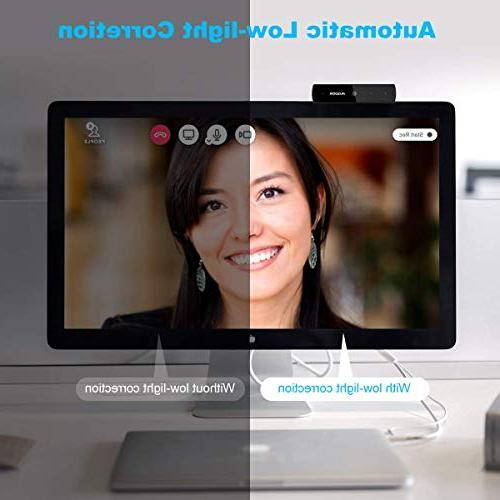 Full HD Webcam Widescreen Web Mic and and Play PC Compatible with Mac