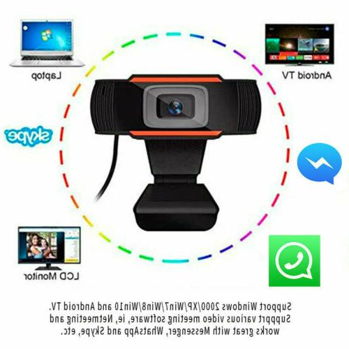 HD Webcam Video USB Web Camera with Microphone PC Desktop