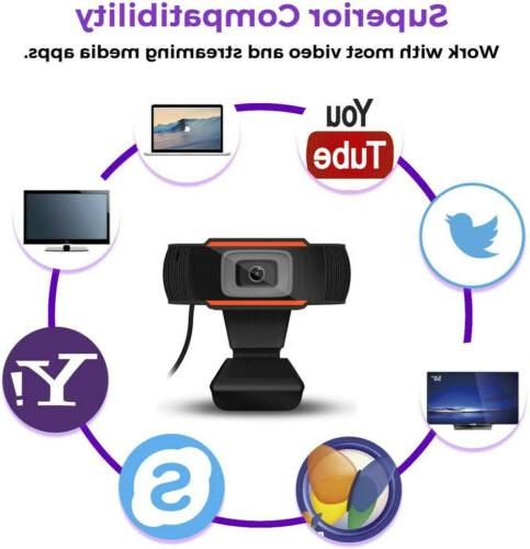 1080P Webcam Microphone Focusing Camera For Desktop