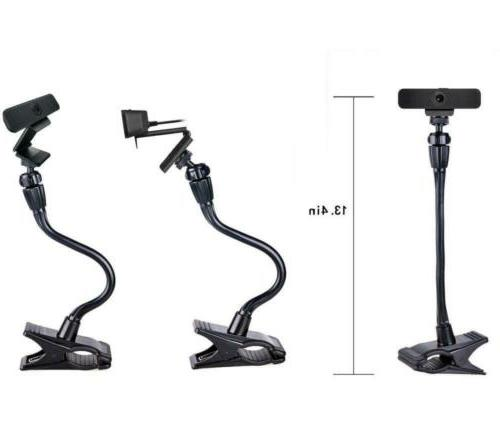 Webcam Clip Mount Holder Flexible Jaws Stand NEW