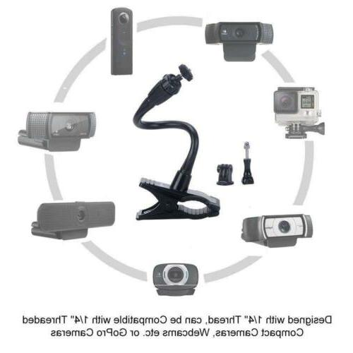 Webcam Mount Flexible Jaws Camera Stand NEW