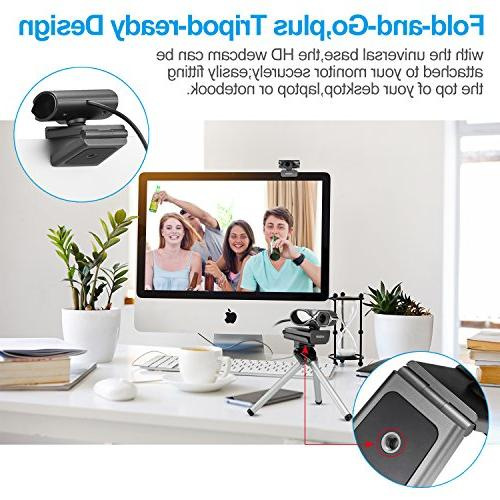 Webcam Streaming,Full 1080p USB Built-in mic for on or