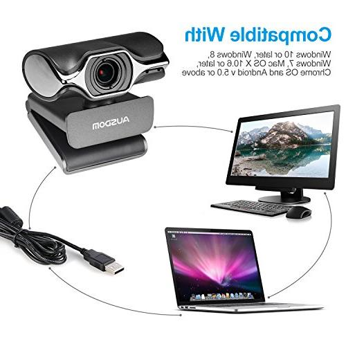 Webcam OBS Streaming Camera Computer Video Recording Built-in Microphone YouTube or