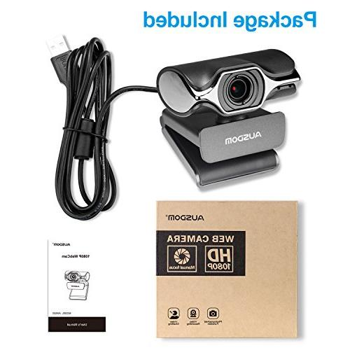 Webcam Live 1080p USB Web Built-in on YouTube or Skype