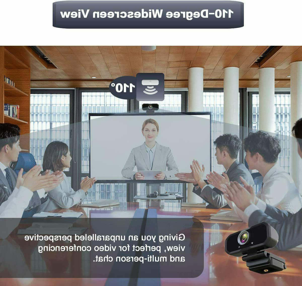 Wide Angle Webcam PC Microphone Full