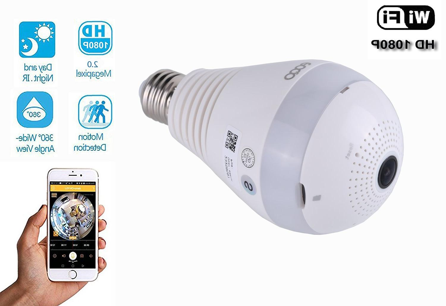 Wireless IP LED Light Bulb <font><b>Home</b></font> <font><b>Security</b></font> Network with Motion Detection Baby Pet